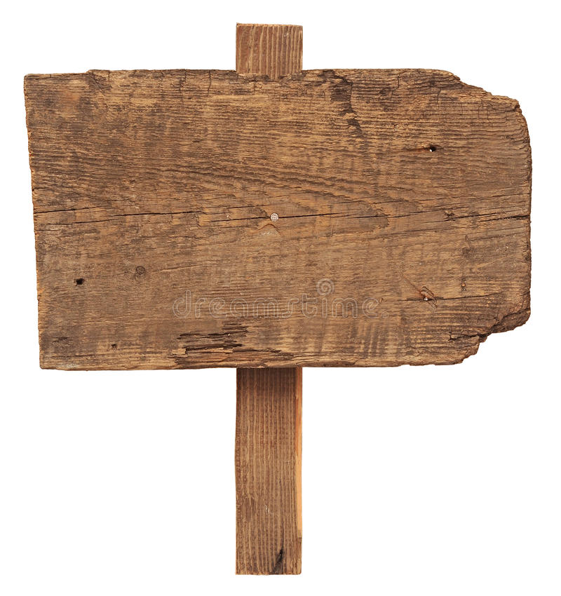Sinal de madeira vazio imagem de stock