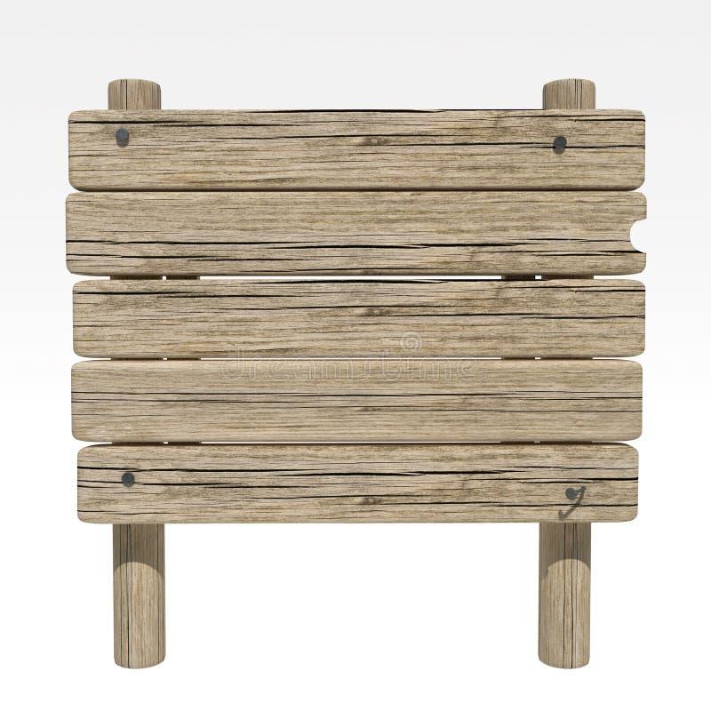 Sinal de madeira velho fotos de stock