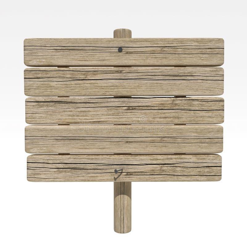 Sinal de madeira velho imagens de stock