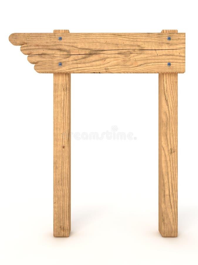 Sinal de madeira velho ilustração stock