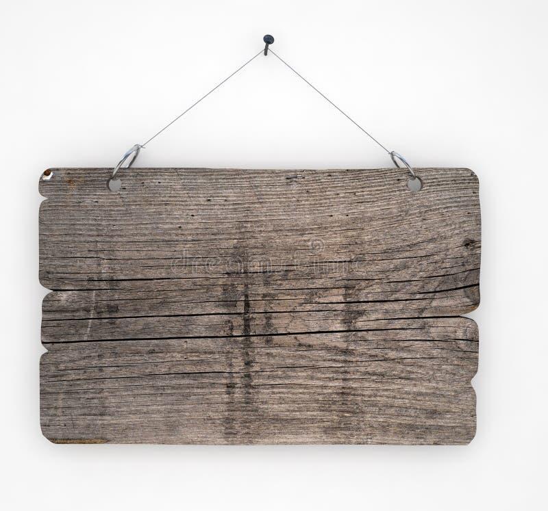 Sinal de madeira velho