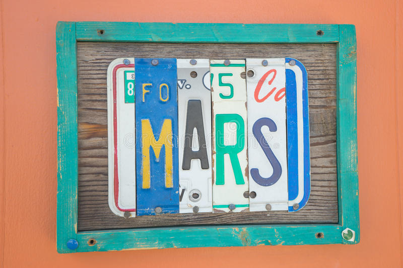 Sinal de Marte fotos de stock royalty free