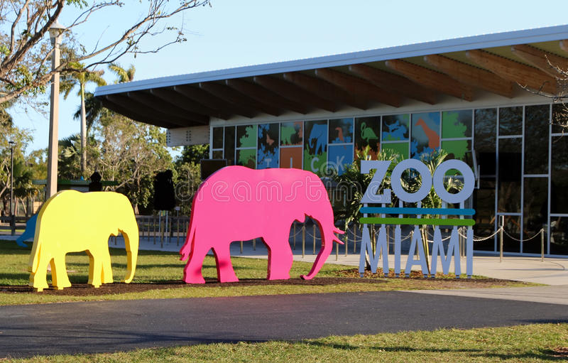Sinal de Miami do jardim zoológico imagens de stock royalty free