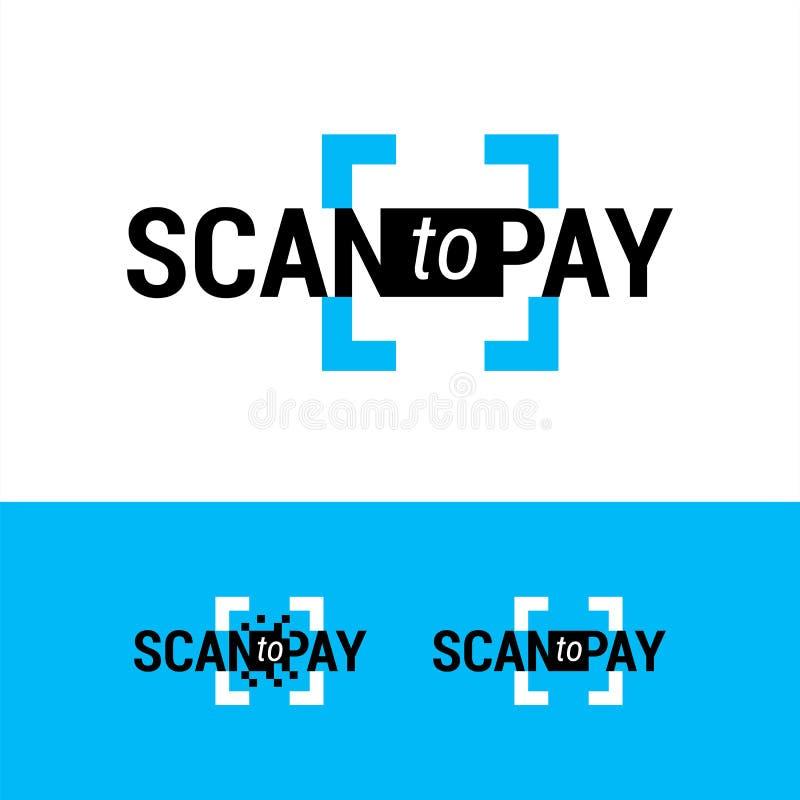 Sinal de Minimalistic indicar o método do pagamento usando o código de QR Logotipo para pagamentos em linha, transferências de di ilustração royalty free