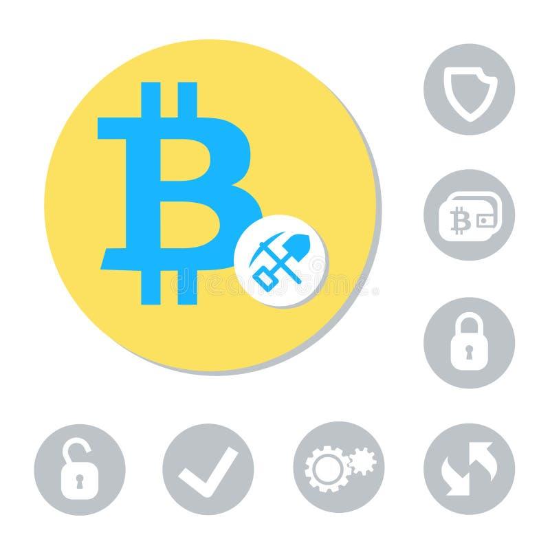 Sinal de moeda de Digitas ilustração stock