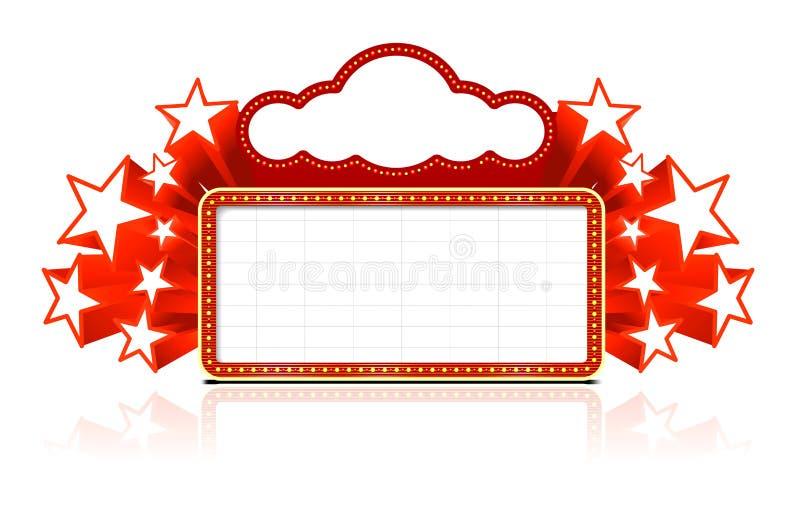Sinal de néon ilustração royalty free