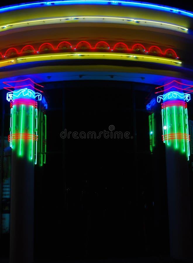 Sinal de néon foto de stock