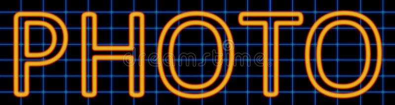 Sinal de néon da foto ilustração do vetor