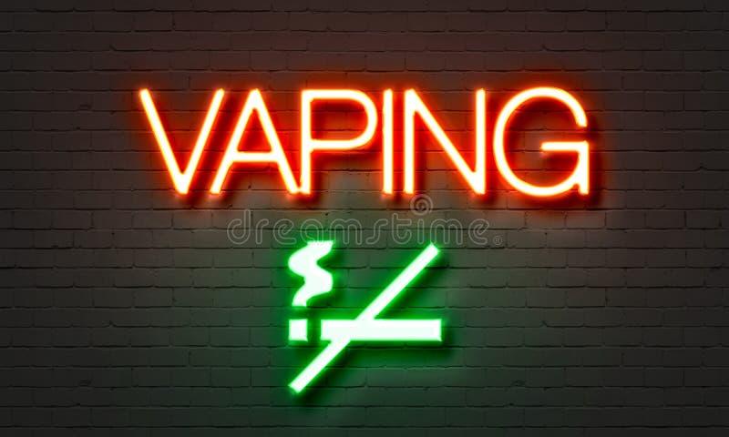 Sinal de néon de Vaping ilustração stock