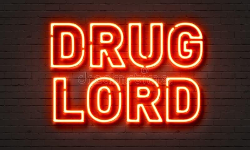 Sinal de néon do barão da droga imagens de stock