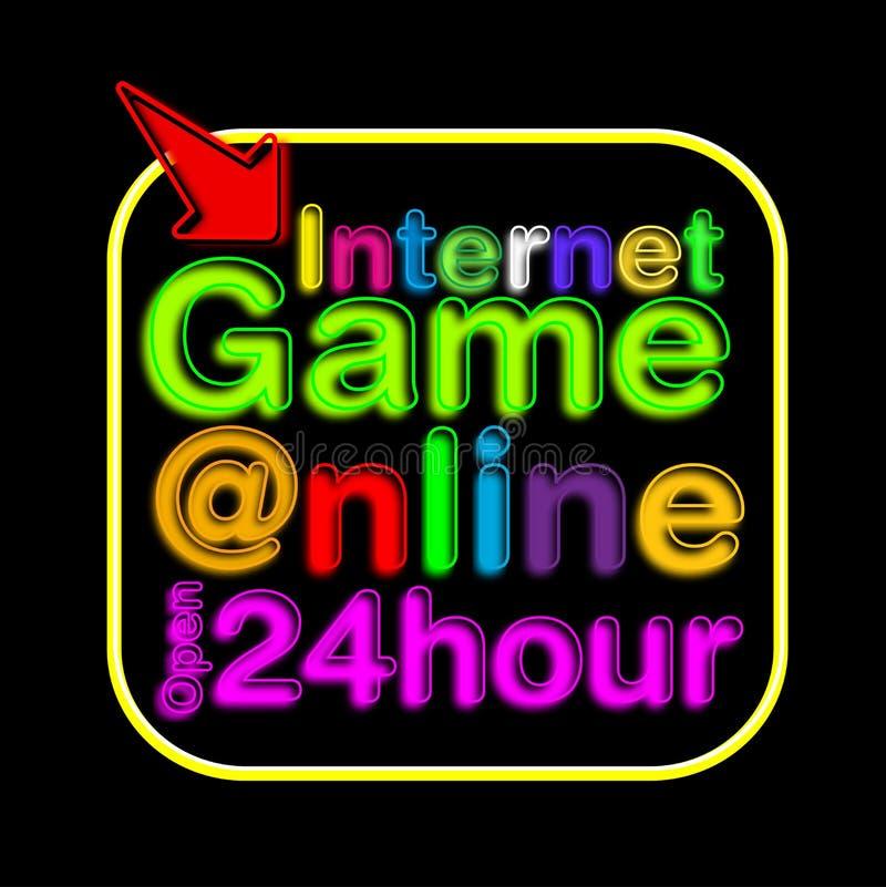 Sinal de néon do café do Internet ilustração royalty free