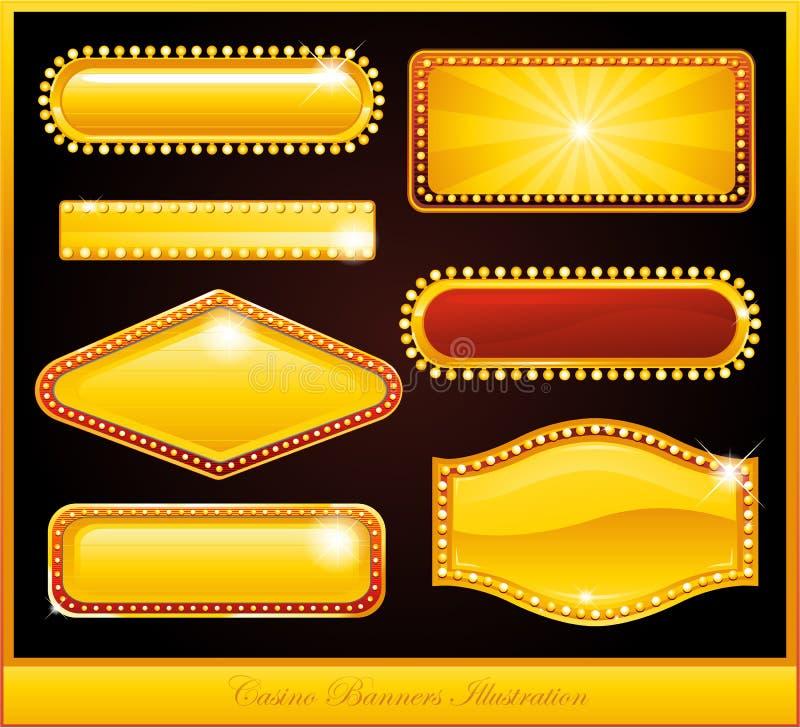 Sinal de néon do casino ilustração royalty free
