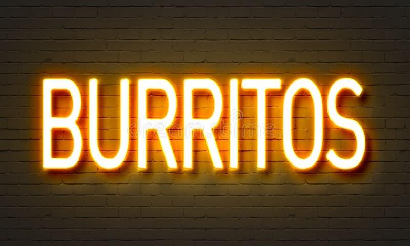 Sinal de néon dos Burritos ilustração stock