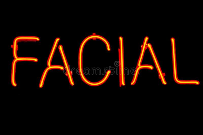 Sinal de néon facial imagens de stock royalty free