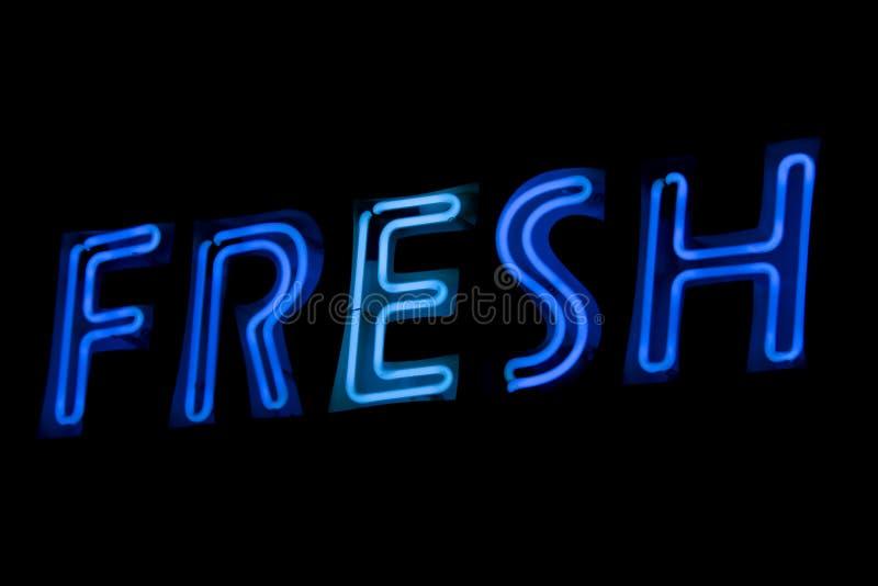 Sinal de néon - fresco fotografia de stock royalty free