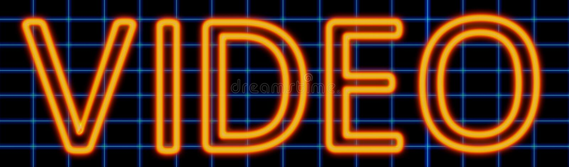 Sinal de néon video ilustração stock