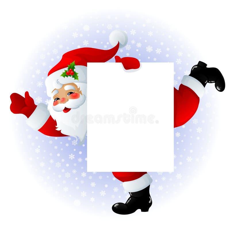 Sinal de Papai Noel ilustração royalty free