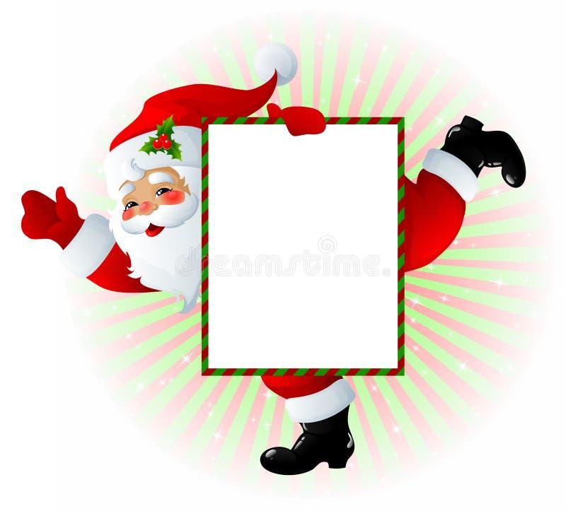 Sinal de Papai Noel fotos de stock
