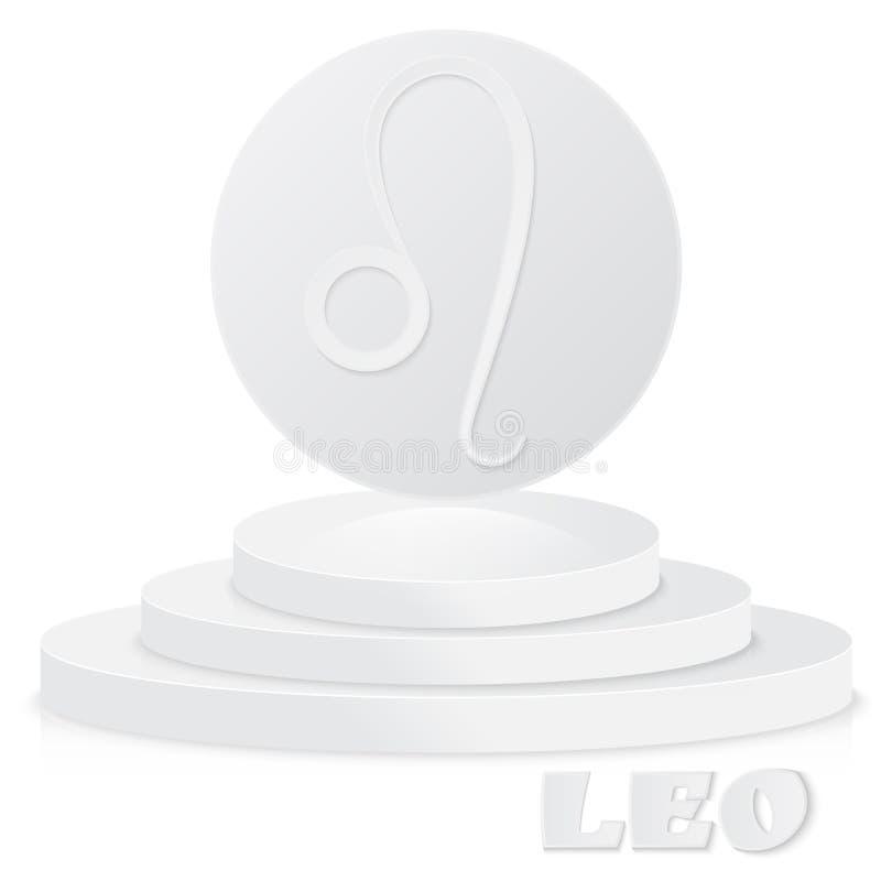 Sinal de papel do zodíaco Leão - símbolo astrológico e do horóscopo no pe ilustração royalty free