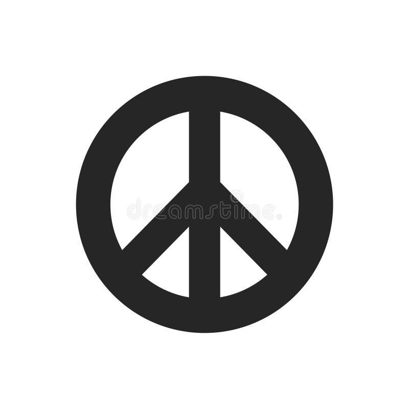 Sinal de paz - ícone liso ilustração do vetor