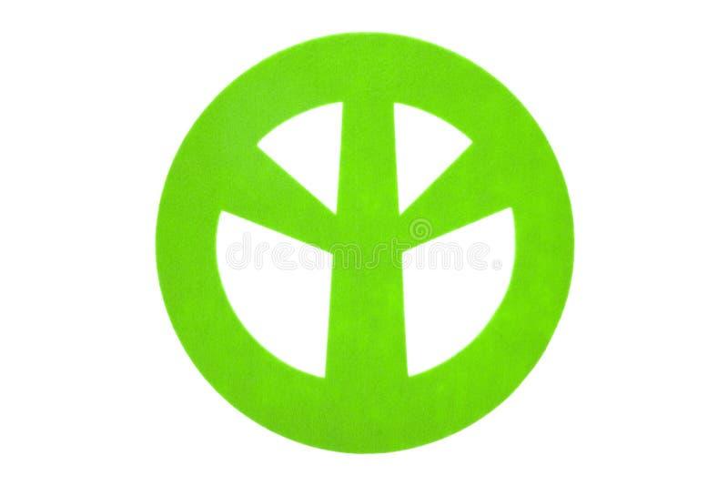 Sinal de paz de feltro do verde imagem de stock