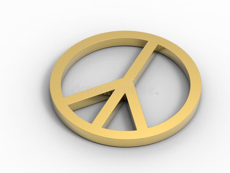 Sinal de paz dourado ilustração royalty free