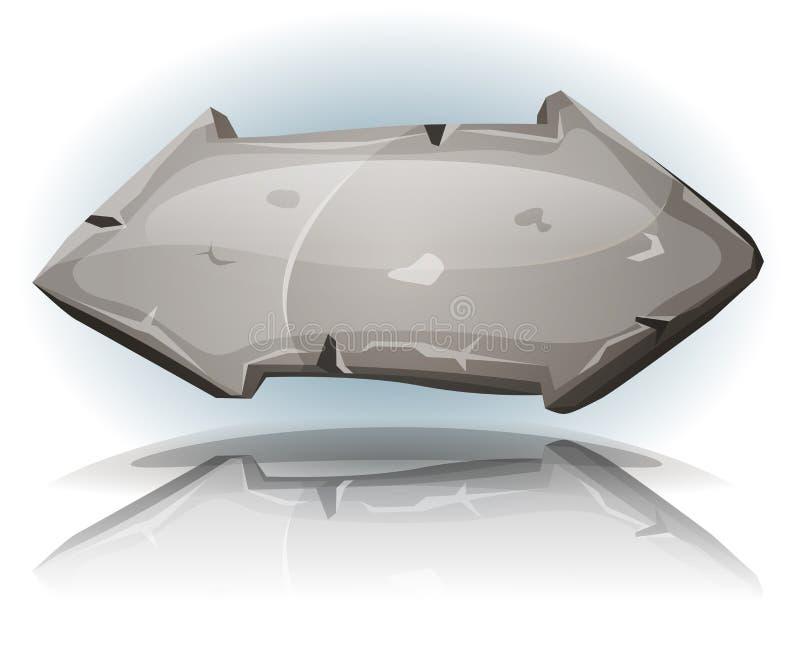 Sinal de pedra da seta para o jogo de Ui ilustração do vetor