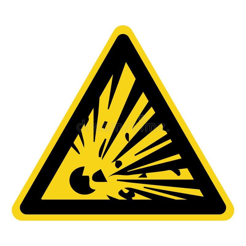 Sinal de perigo explosivo ilustração stock