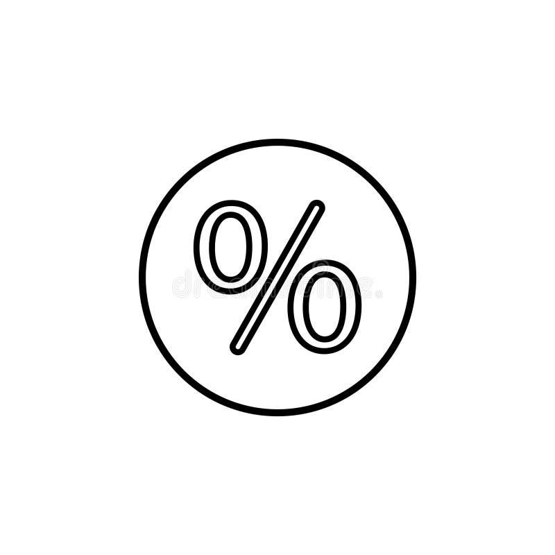 Sinal de por cento Vetor ilustração do vetor