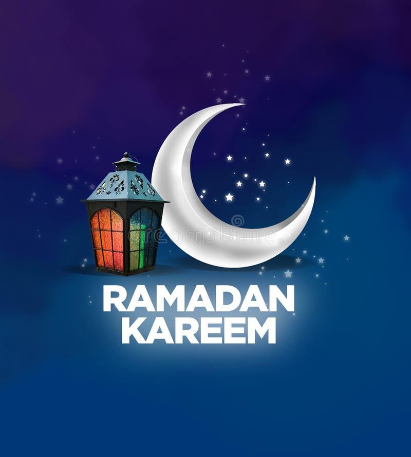 Sinal de Ramadan Kareem ilustração royalty free