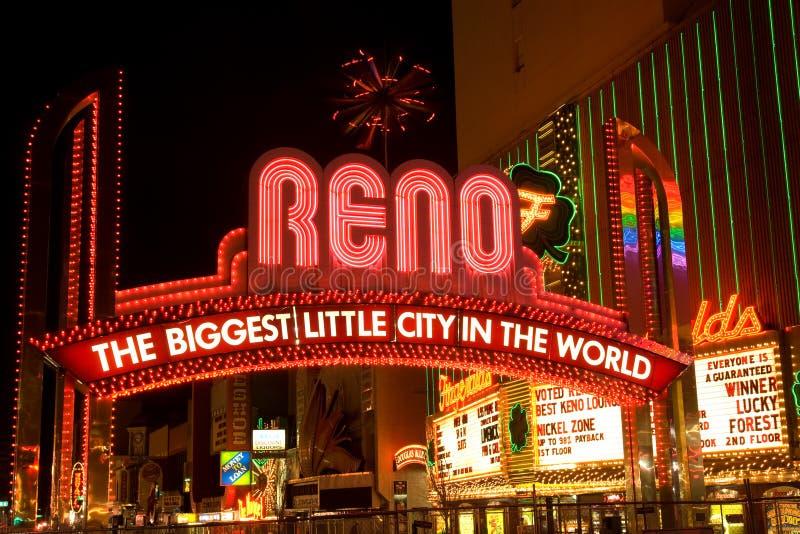 Sinal de Reno fotos de stock royalty free
