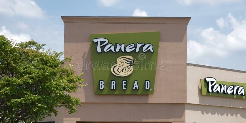Sinal de Resturant do pão de Panera fotos de stock