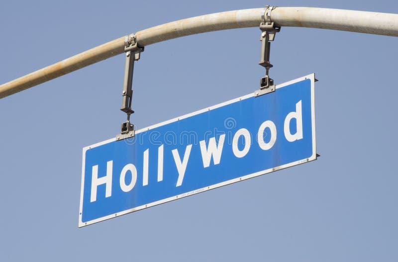 Sinal de rua 2 da avenida de Hollywood fotografia de stock royalty free