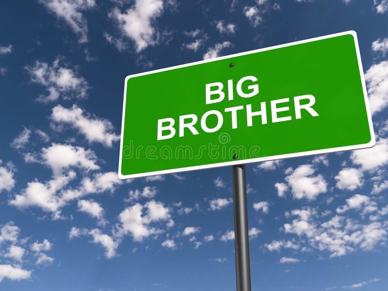 Sinal de rua de Big Brother ilustração royalty free