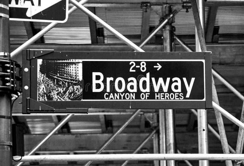 Sinal de rua Broadway imagem de stock royalty free