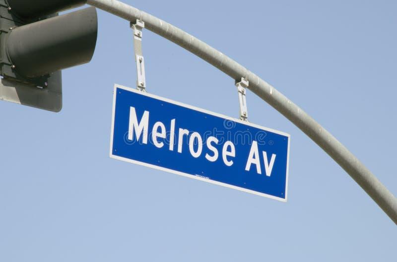 Sinal de rua da avenida da melrose fotos de stock royalty free
