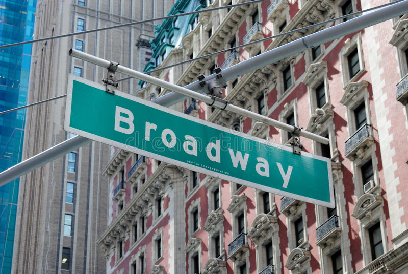 Sinal de rua de Broadway imagem de stock royalty free