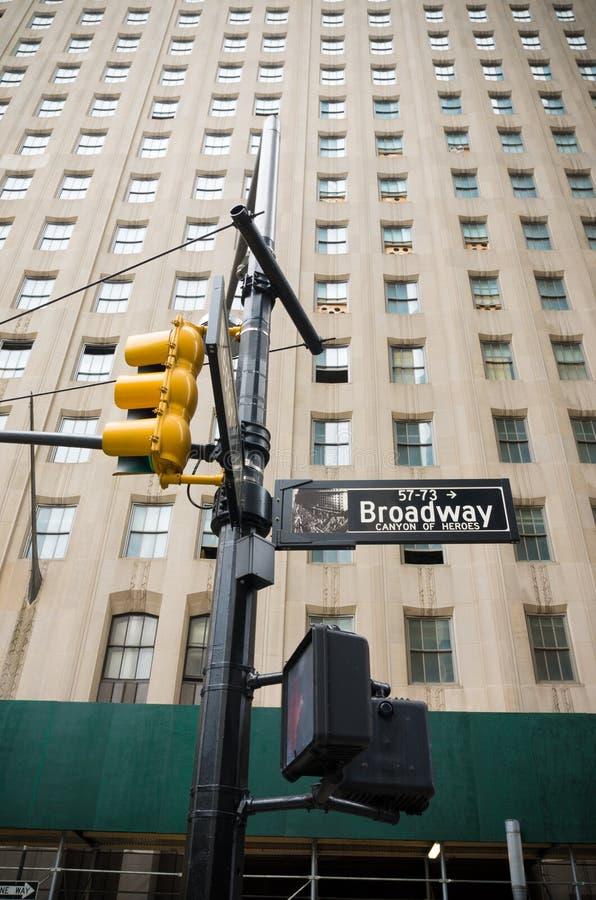 Sinal de rua de Broadway foto de stock