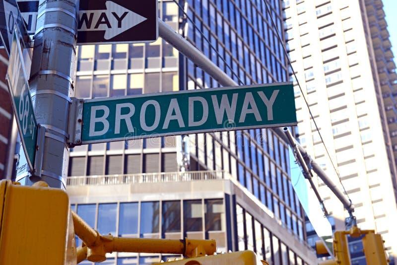 Sinal de rua de Broadway, Manhattan, New York City imagem de stock
