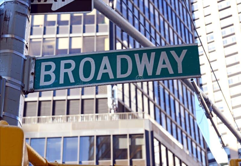 Sinal de rua de Broadway, Manhattan, New York City fotos de stock royalty free