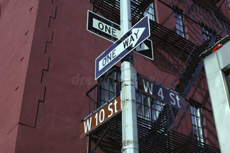 Sinal de rua do Greenwich Village imagem de stock