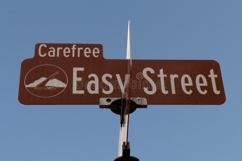 Sinal de rua fácil fotos de stock