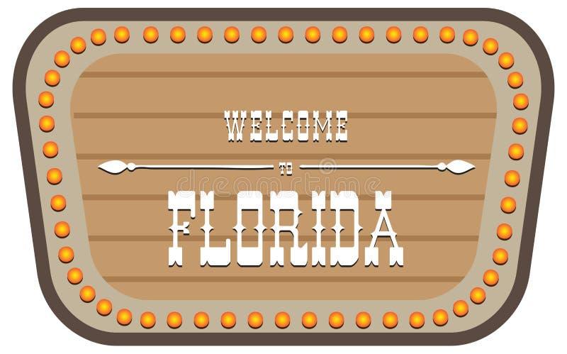 Sinal de rua Florida do vintage ilustração stock