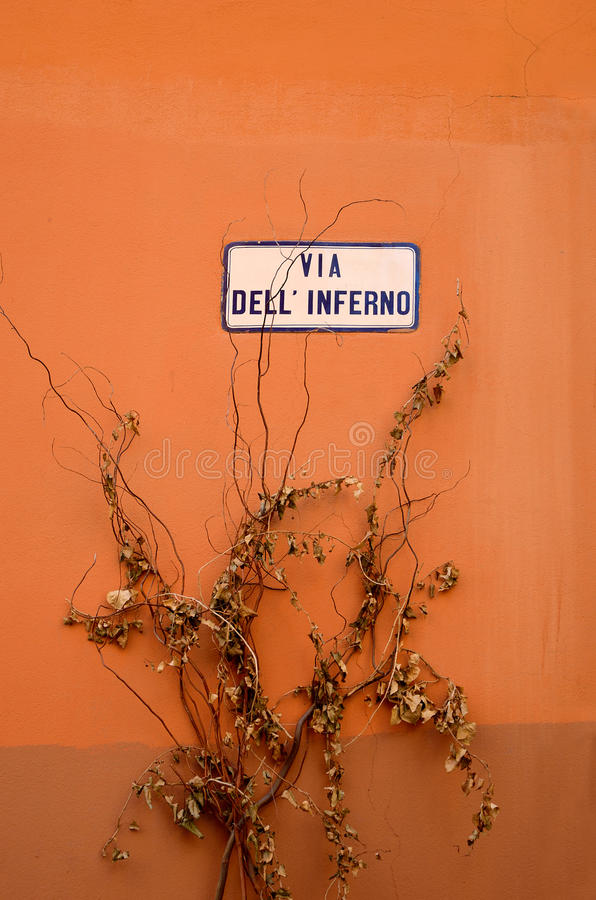 Sinal de rua italiano imagens de stock royalty free