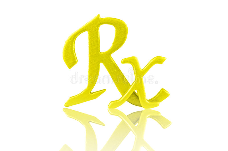 Sinal de Rx fotografia de stock royalty free