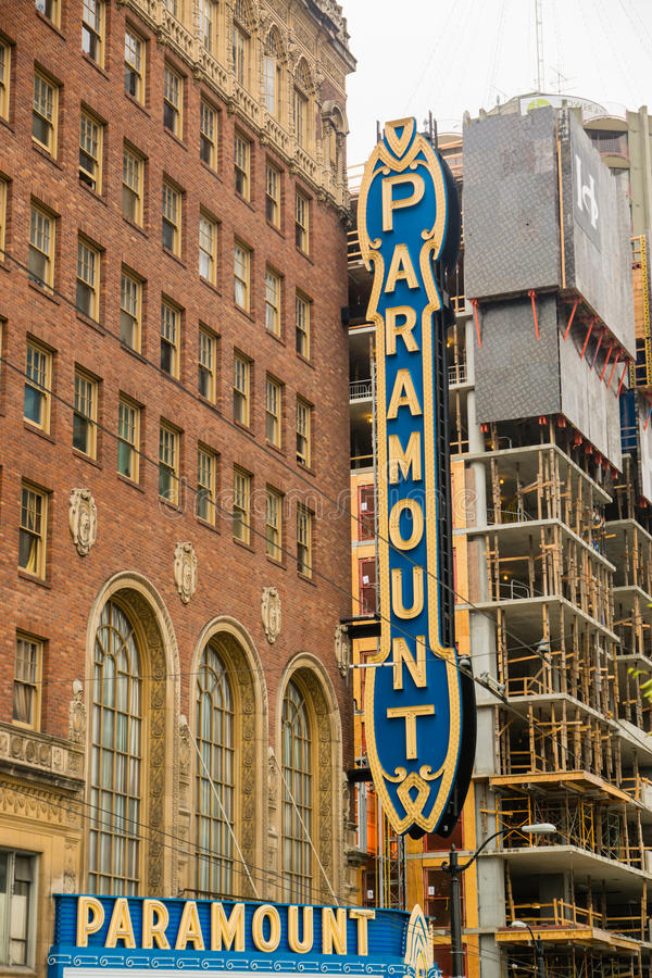 Sinal de Seattle Paramount fotos de stock