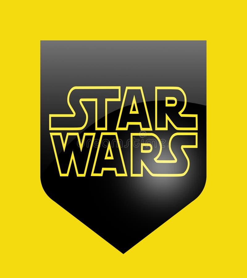 Sinal de Star Wars ilustração do vetor