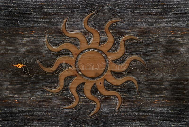 Sinal de Sun ilustração royalty free