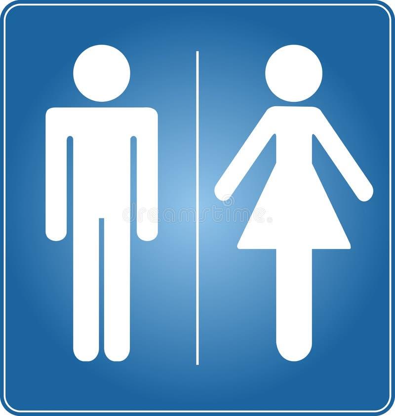 Sinal de Toilette ilustração stock
