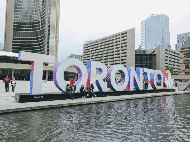 Sinal de Toronto foto de stock